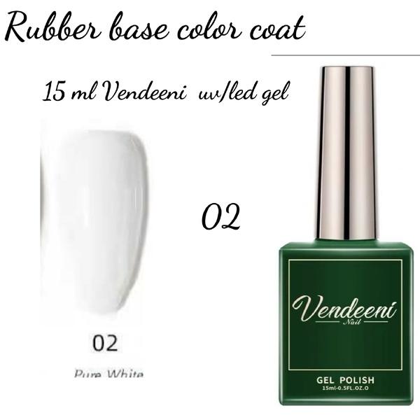 15 ml vendeeni uv led rubber base color gel no 2 picture