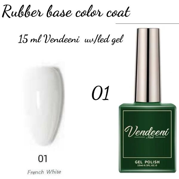 15 ml vendeeni uv led rubber base color gel no 1 picture