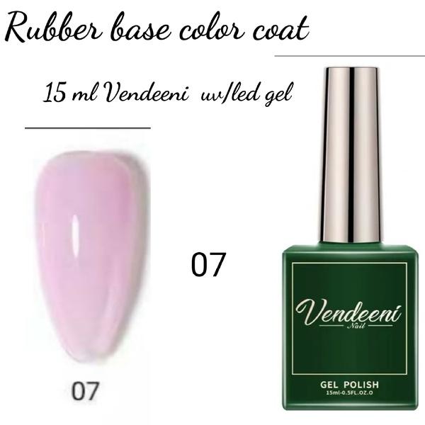 15 ml vendeeni uv led rubber base color gel no 7 picture