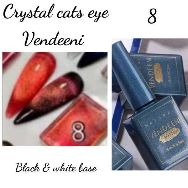 15 ml vendeeni crystal cats eye gel nail polish no 8 picture