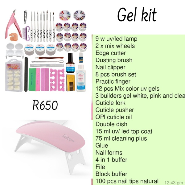 Gel kit with lamp picture