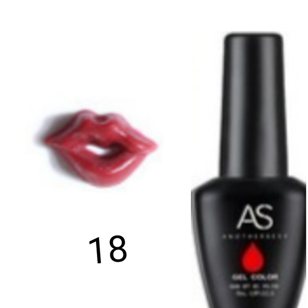 15 ml as uv led gel nail polish lip series 018 picture