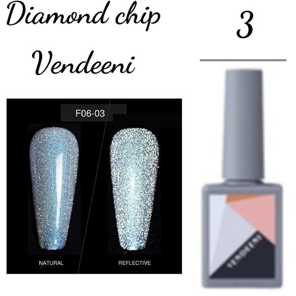 15 ml vendeeni diamond chip gel nail polish no 3 picture