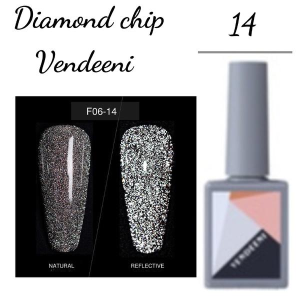 15 ml vendeeni diamond chip gel nail polish no 14 picture