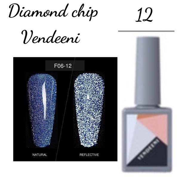 15 ml vendeeni diamond chip gel nail polish no 12 picture