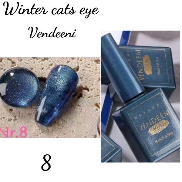 15 ml vendeeni winter cats eye gel nail polish no 8 picture