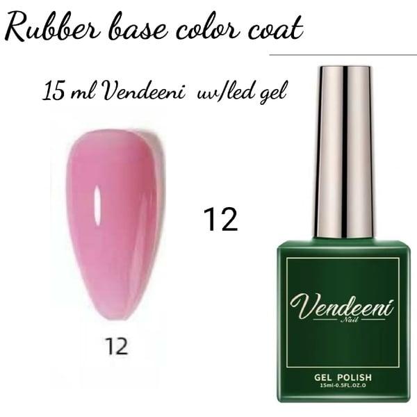 15 ml vendeeni uv led rubber base color gel no 12 picture