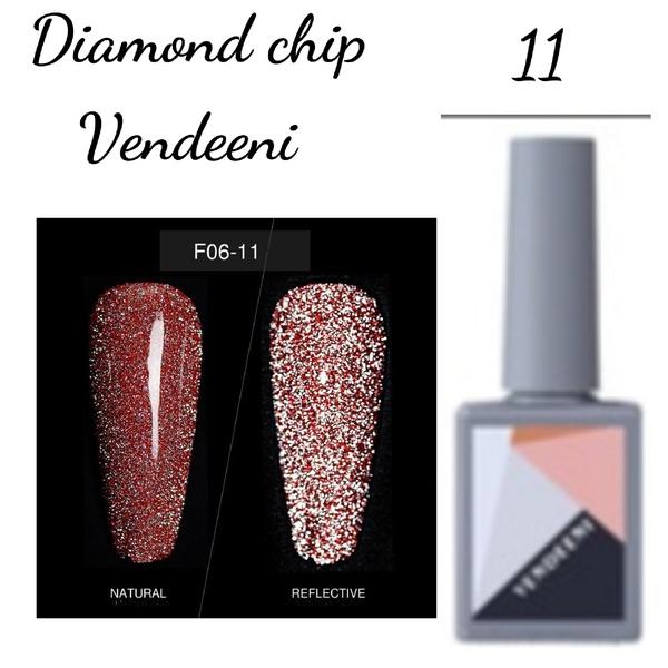 15 ml vendeeni diamond chip gel nail polish no 11 picture