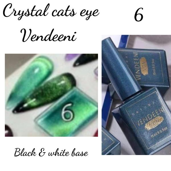 15 ml vendeeni crystal cats eye gel nail polish no 6 picture
