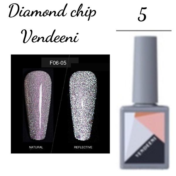 15 ml vendeeni diamond chip gel nail polish no 5 picture
