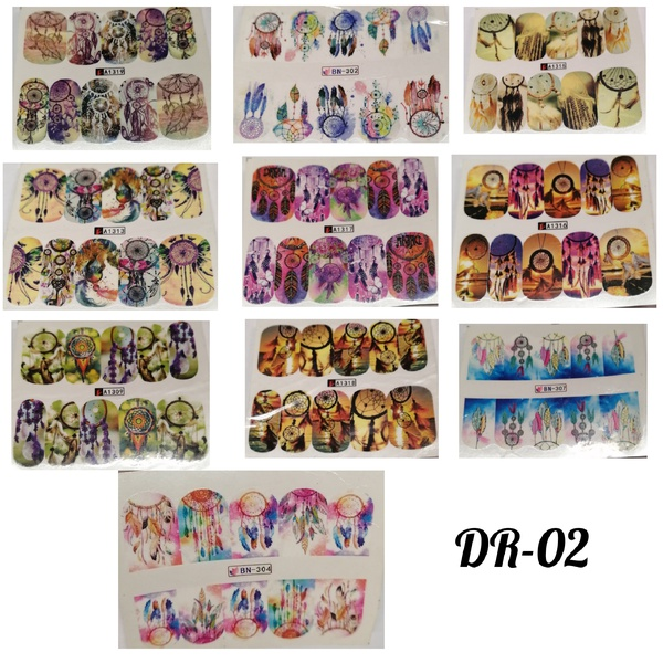 10 pcs water transfer sticker dr-02 picture