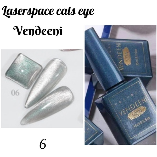 15 ml vendeeni laserspace cats eye gel nail polish no 6 picture