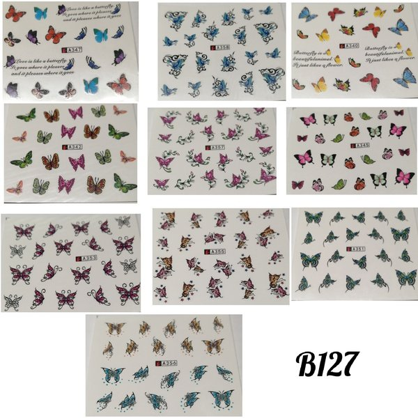10 pcs water transfer sticker b127 picture