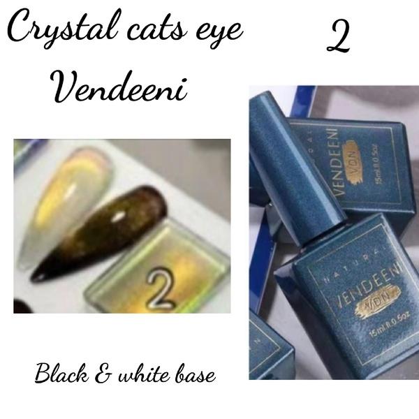 15 ml vendeeni crystal cats eye gel nail polish no 2 picture