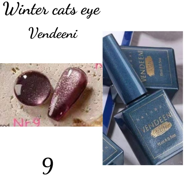15 ml vendeeni winter cats eye gel nail polish no 9 picture