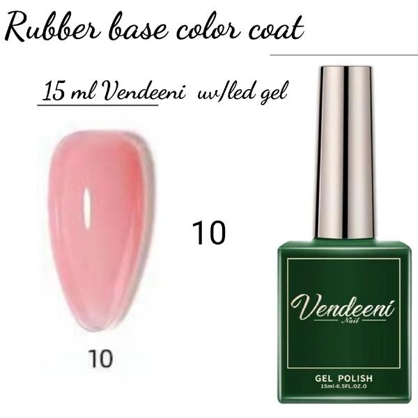 15 ml vendeeni uv led rubber base color gel no 10 picture