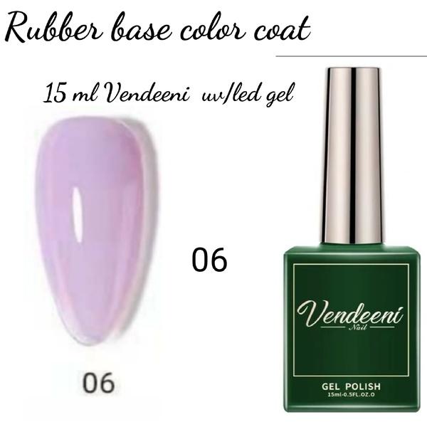 15 ml vendeeni uv led rubber base color gel no 6 picture