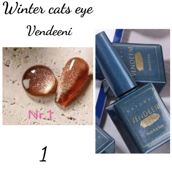 15 ml vendeeni winter cats eye gel nail polish no 1 picture