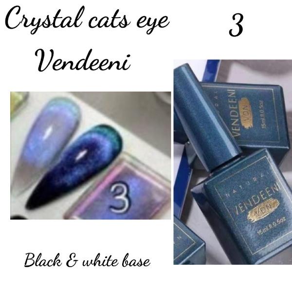 15 ml vendeeni crystal cats eye gel nail polish no 3 picture