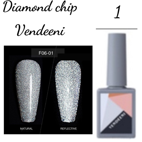 15 ml vendeeni diamond chip gel nail polish no 1 picture