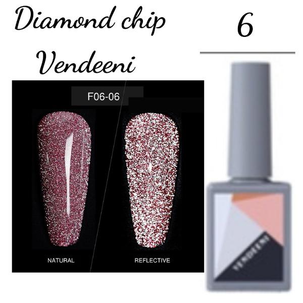 15 ml vendeeni diamond chip gel nail polish no 6 picture