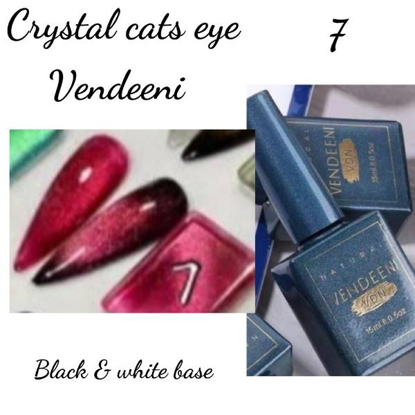 15 ml vendeeni crystal cats eye gel nail polish no 7 picture