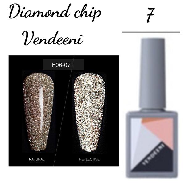 15 ml vendeeni diamond chip gel nail polish no 7 picture