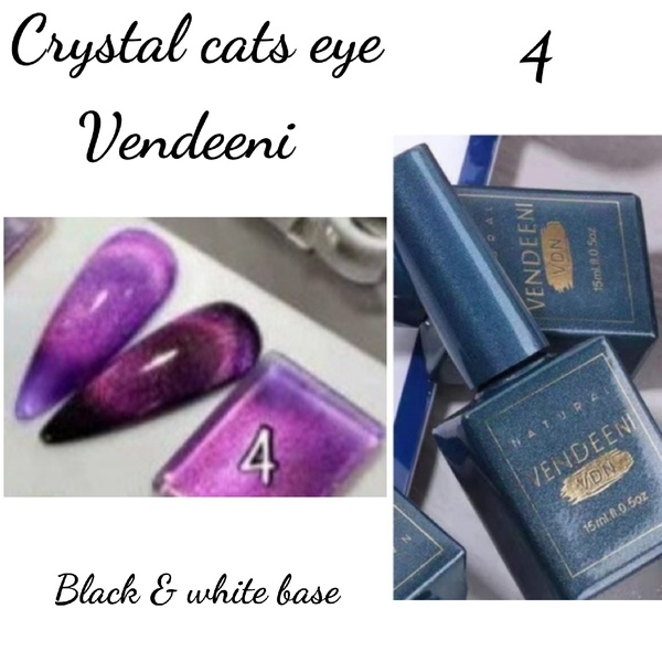 15 ml vendeeni crystal cats eye gel nail polish no 4 picture
