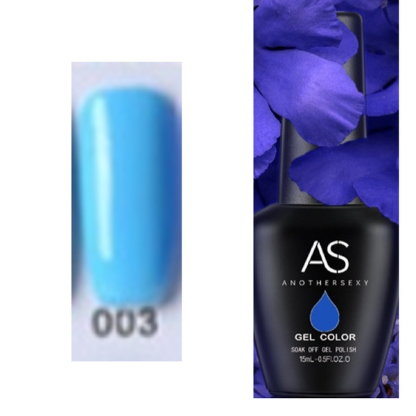 15 ml as uv led gel polish blue series no 03 picture