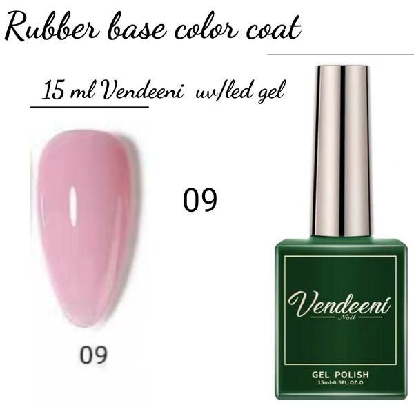 15 ml vendeeni uv led rubber base color gel no 9 picture