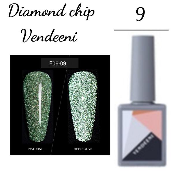 15 ml vendeeni diamond chip gel nail polish no 9 picture