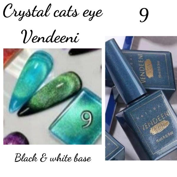 15 ml vendeeni crystal cats eye gel nail polish no 9 picture