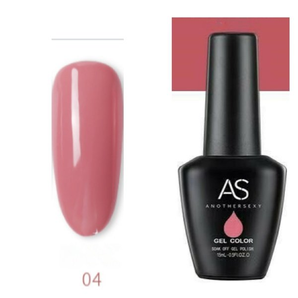 15 ml as uv led gel nail polish cover pink series no 04 picture