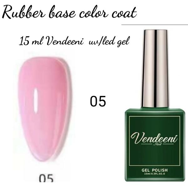 15 ml vendeeni uv led rubber base color gel no 5 picture