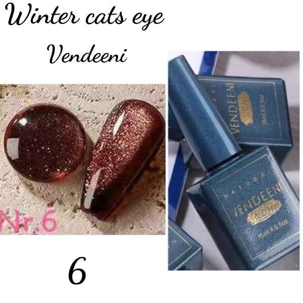 15 ml vendeeni winter cats eye gel nail polish no 6 picture