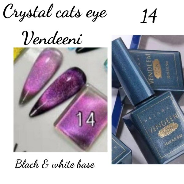 15 ml vendeeni crystal cats eye gel nail polish no 14 picture