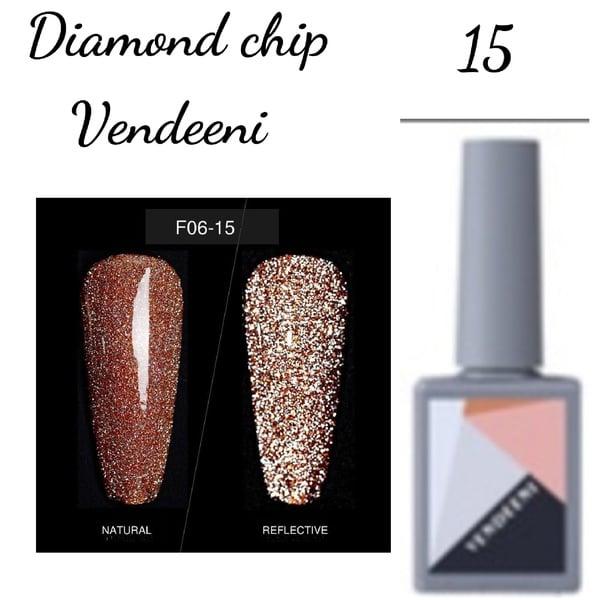 15 ml vendeeni diamond chip gel nail polish no 15 picture