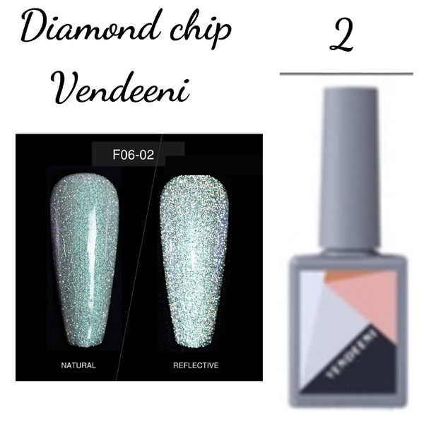 15 ml vendeeni diamond chip gel nail polish no 2 picture