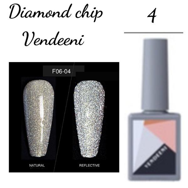 15 ml vendeeni diamond chip gel nail polish no 4 picture