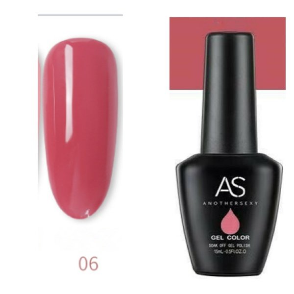 15 ml as uv led gel nail polish cover pink series no 06 picture