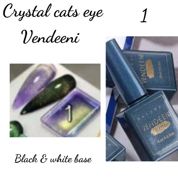 15 ml vendeeni crystal cats eye gel nail polish no 1 picture