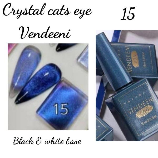 15 ml vendeeni crystal cats eye gel nail polish no 15 picture