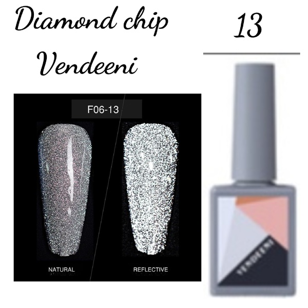 15 ml vendeeni diamond chip gel nail polish no 13 picture