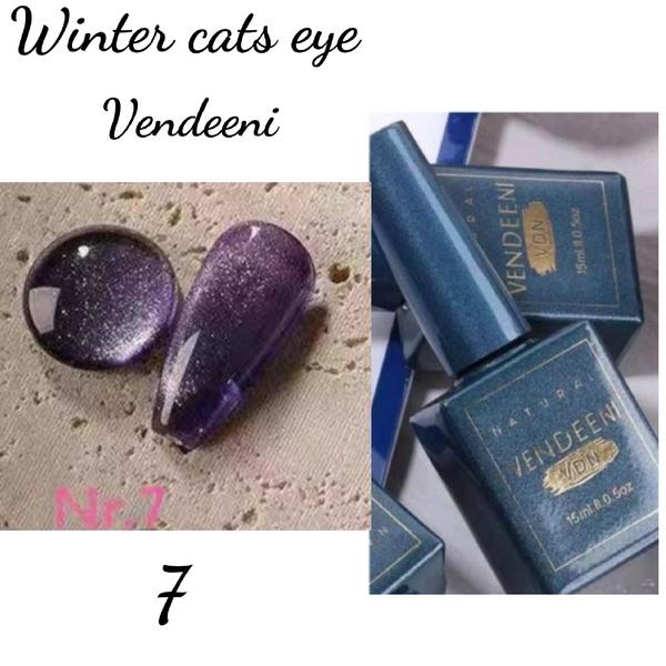 15 ml vendeeni winter cats eye gel nail polish no 7 picture