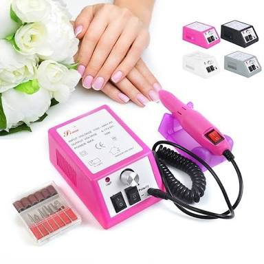 Electric nail drill pink picture