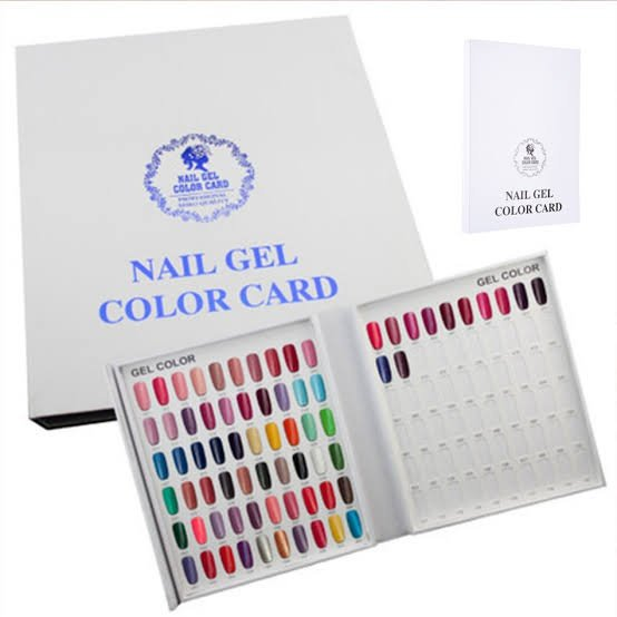 Reusable & removable adhesive for nail color display picture