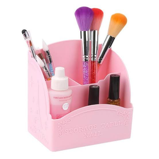 Pink brush holder picture