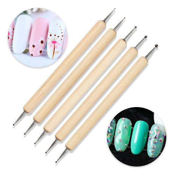 5 pcs wooden dotting tool picture