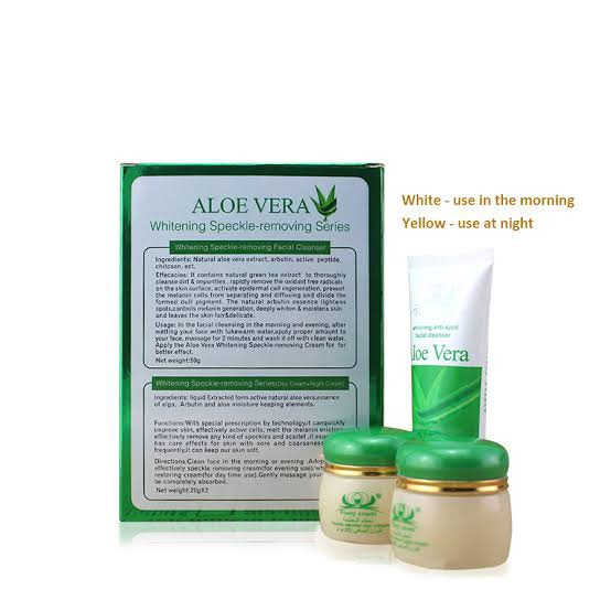 50g whitening anti - spot differentiated bi-facial  aloe  + vera picture