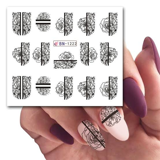 Water transfer nail sticker bn-1222 picture